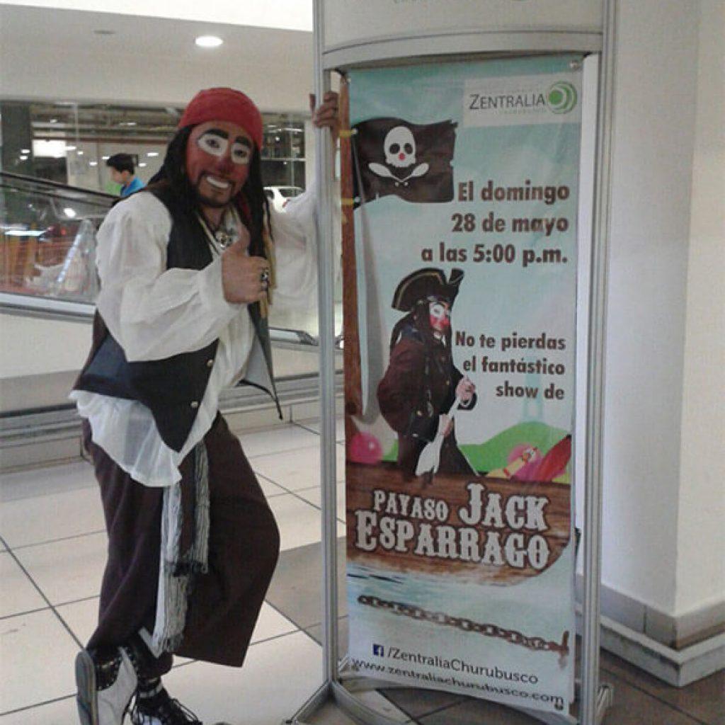 Payaso Jack Sparrago